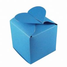 Ocean Blue Heart Top Designer Favour Boxes
